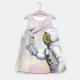 Thumbnail image of Unicorn and Astronaut Mädchen-Sommerkleid, Live Heroes
