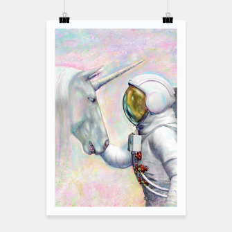 Thumbnail image of Unicorn and Astronaut Plakat, Live Heroes