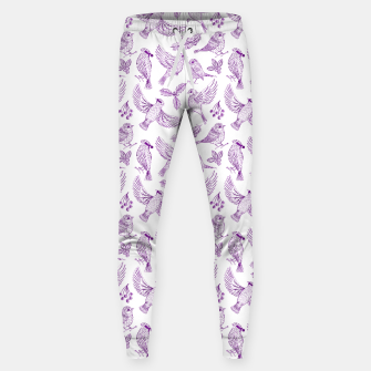 Miniaturka Winter Birds and Foliage Pattern (Purple) Sweatpants, Live Heroes