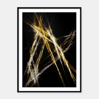 Abstract 2 - Gold & Silver LowPoly Plakat mit rahmen miniature
