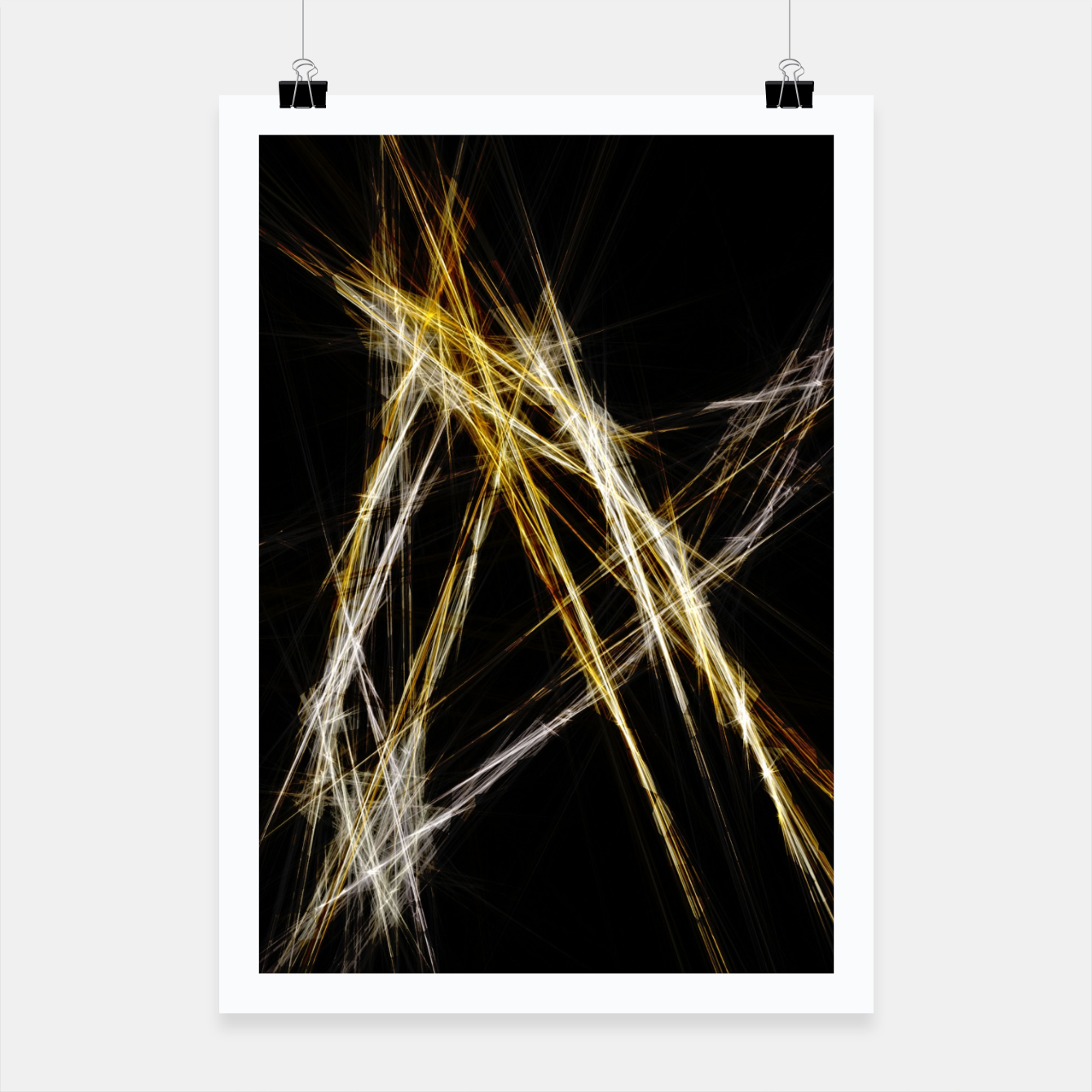 Image de Abstract 2 - Gold & Silver LowPoly Plakat - Live Heroes