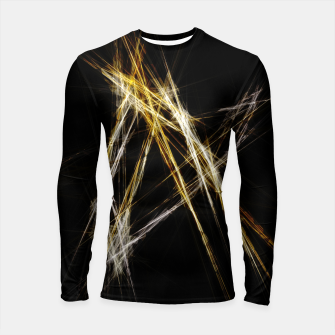 Abstract 2 - Gold & Silver LowPoly Longsleeve rashguard miniature