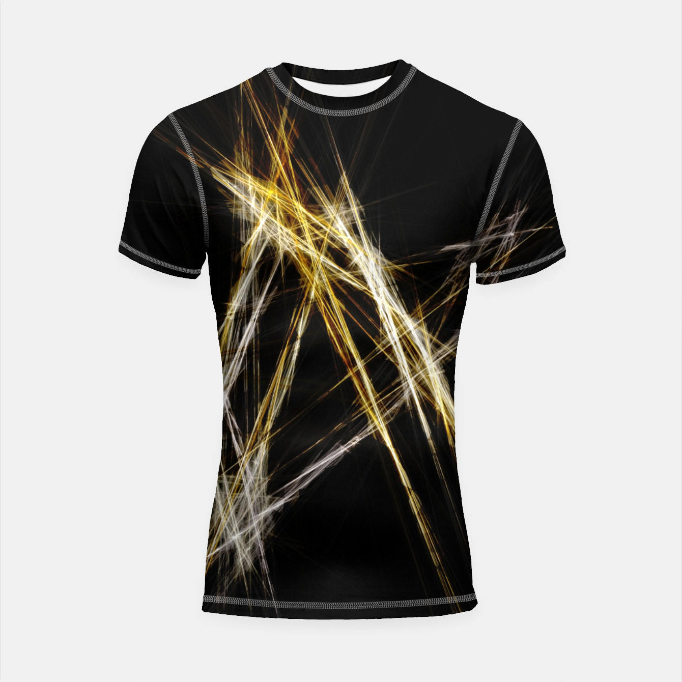 Image de Abstract 2 - Gold & Silver LowPoly Shortsleeve rashguard - Live Heroes