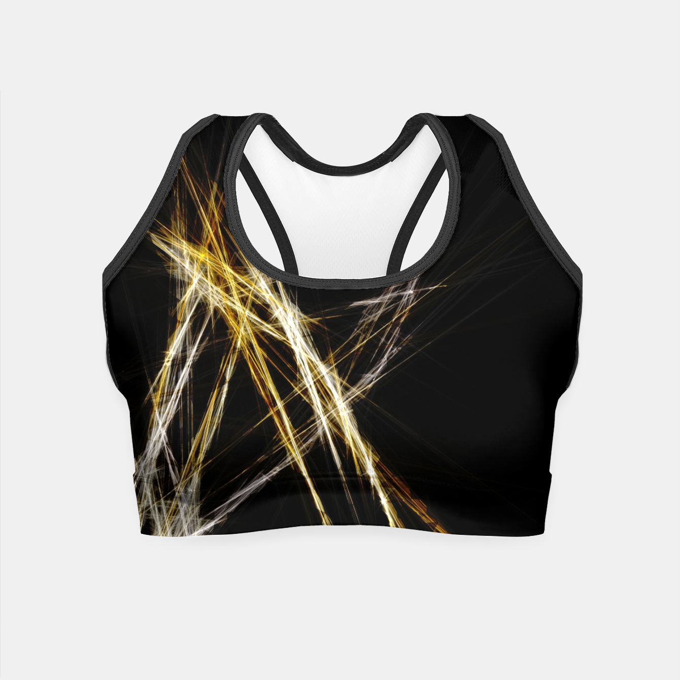 Image de Abstract 2 - Gold & Silver LowPoly Crop Top - Live Heroes