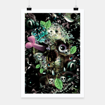 Miniatur Skully Night Poster, Live Heroes