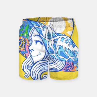 Thumbnail image of Happy Vacation Swim Shorts, Live Heroes