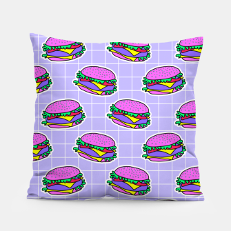 Miniaturka Psychedelic burger / Purple Grid  Pillow, Live Heroes