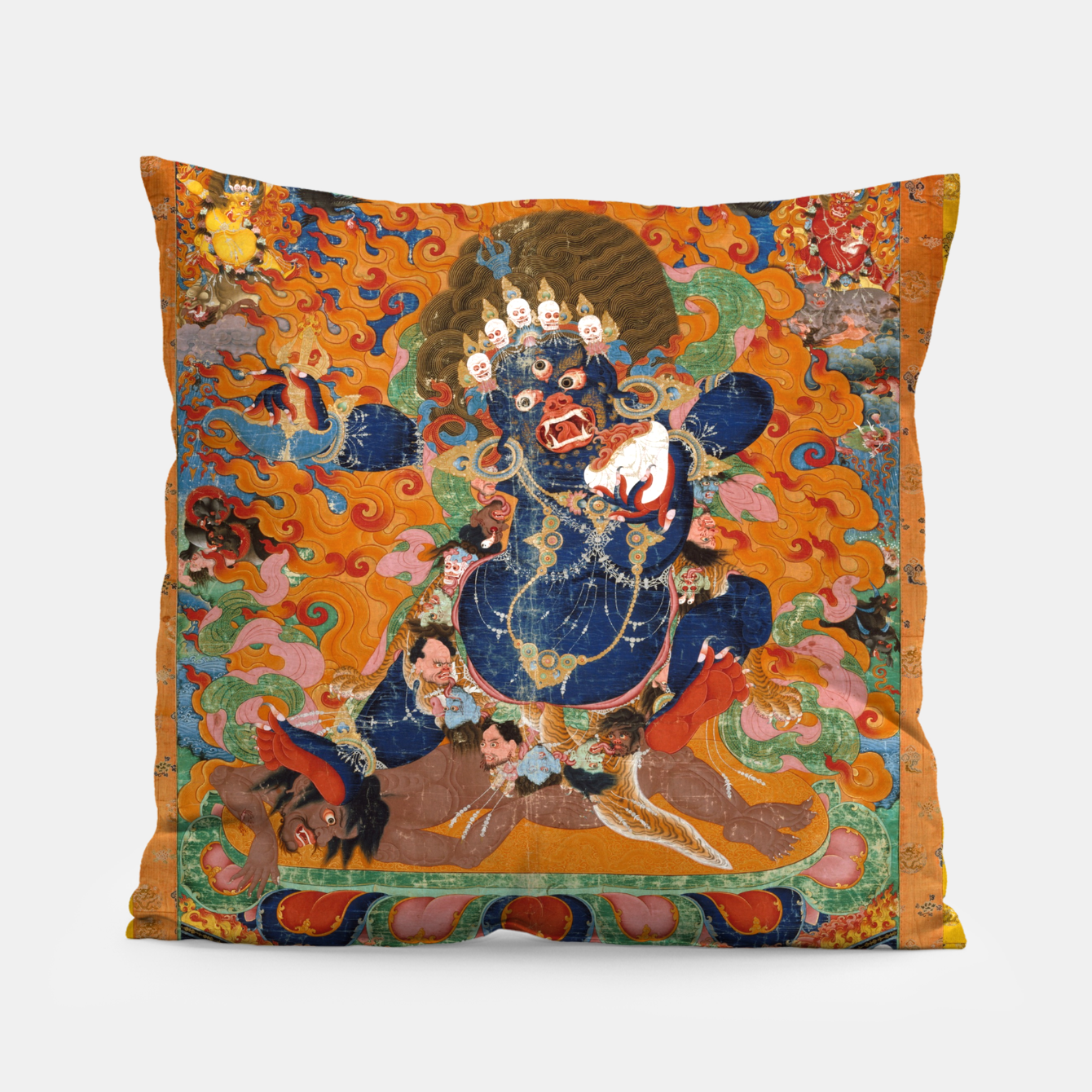 Image of Yama Yamantaka Lord of Death Pillow - Live Heroes