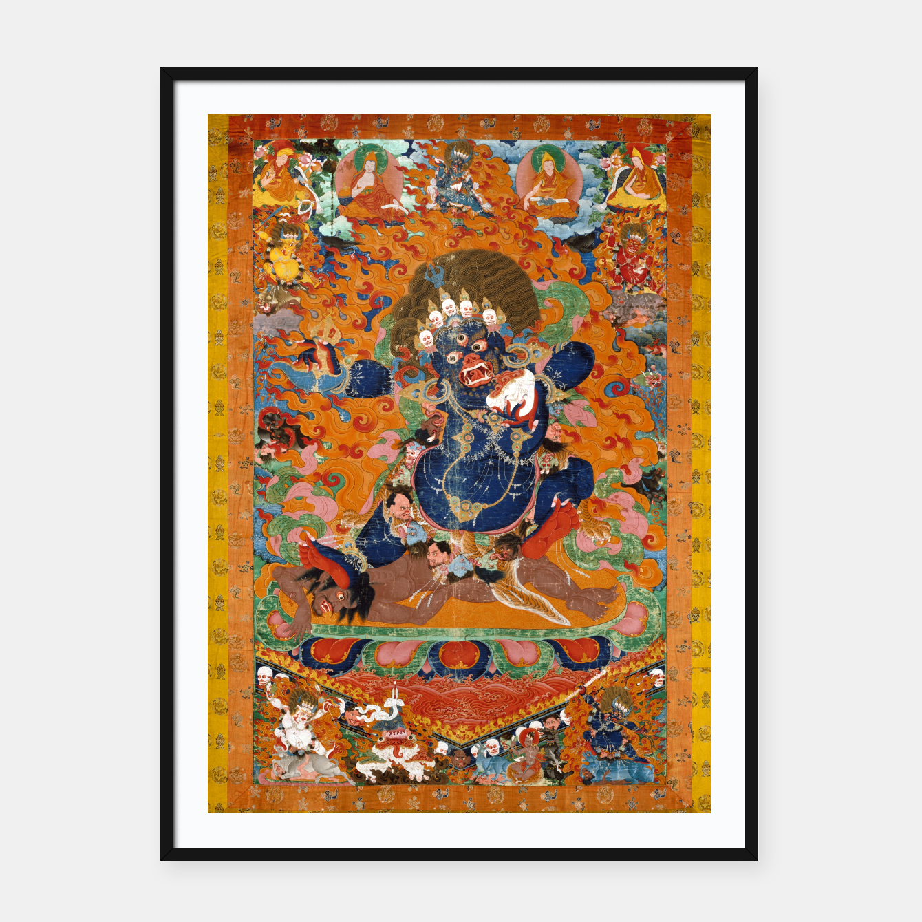 Image of Yama Yamantaka Lord of Death Framed poster - Live Heroes