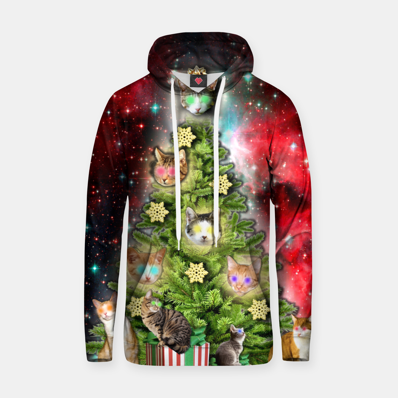 Image of MERRY CHRISTMAS CATS Sudadera con capucha - Live Heroes
