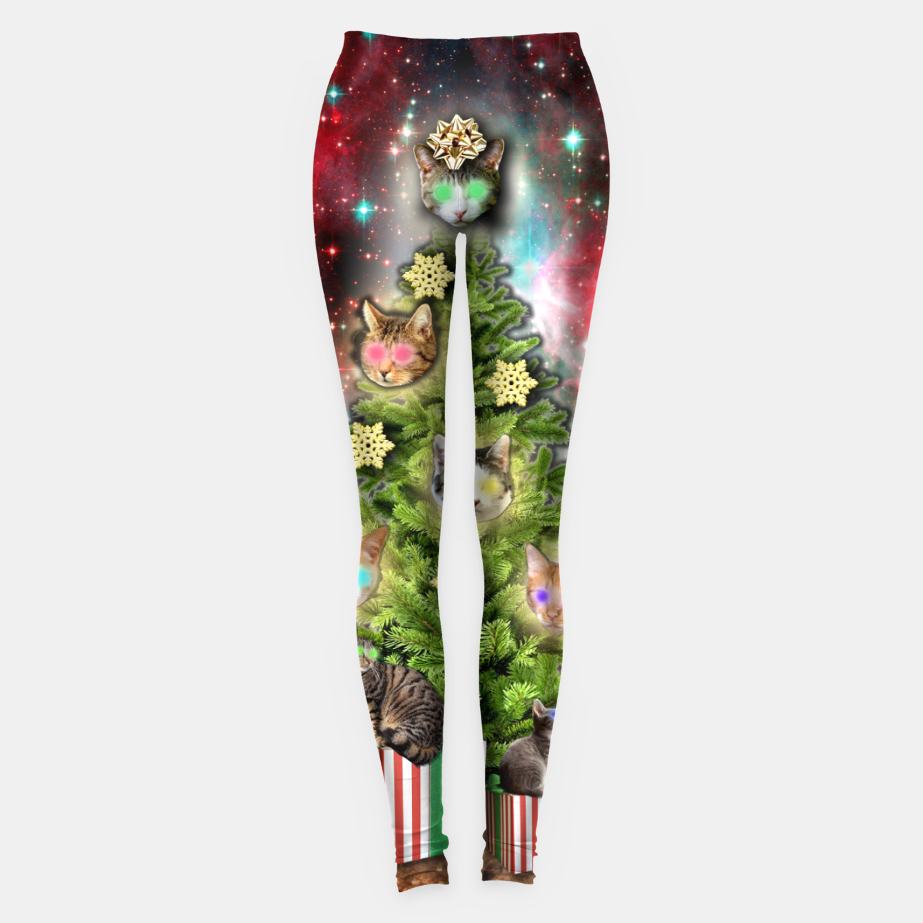 Image of MERRY CHRISTMAS CATS Leggings - Live Heroes