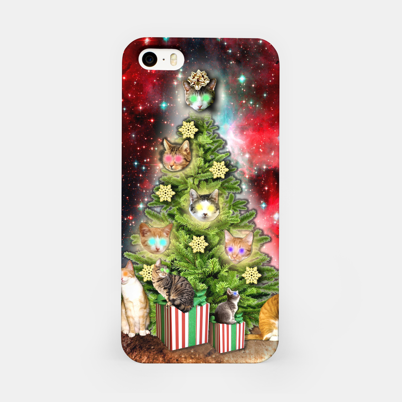 Image of MERRY CHRISTMAS CATS Carcasa por Iphone - Live Heroes