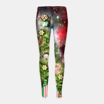 Thumbnail image of MERRY CHRISTMAS CATS Leggings para niña, Live Heroes
