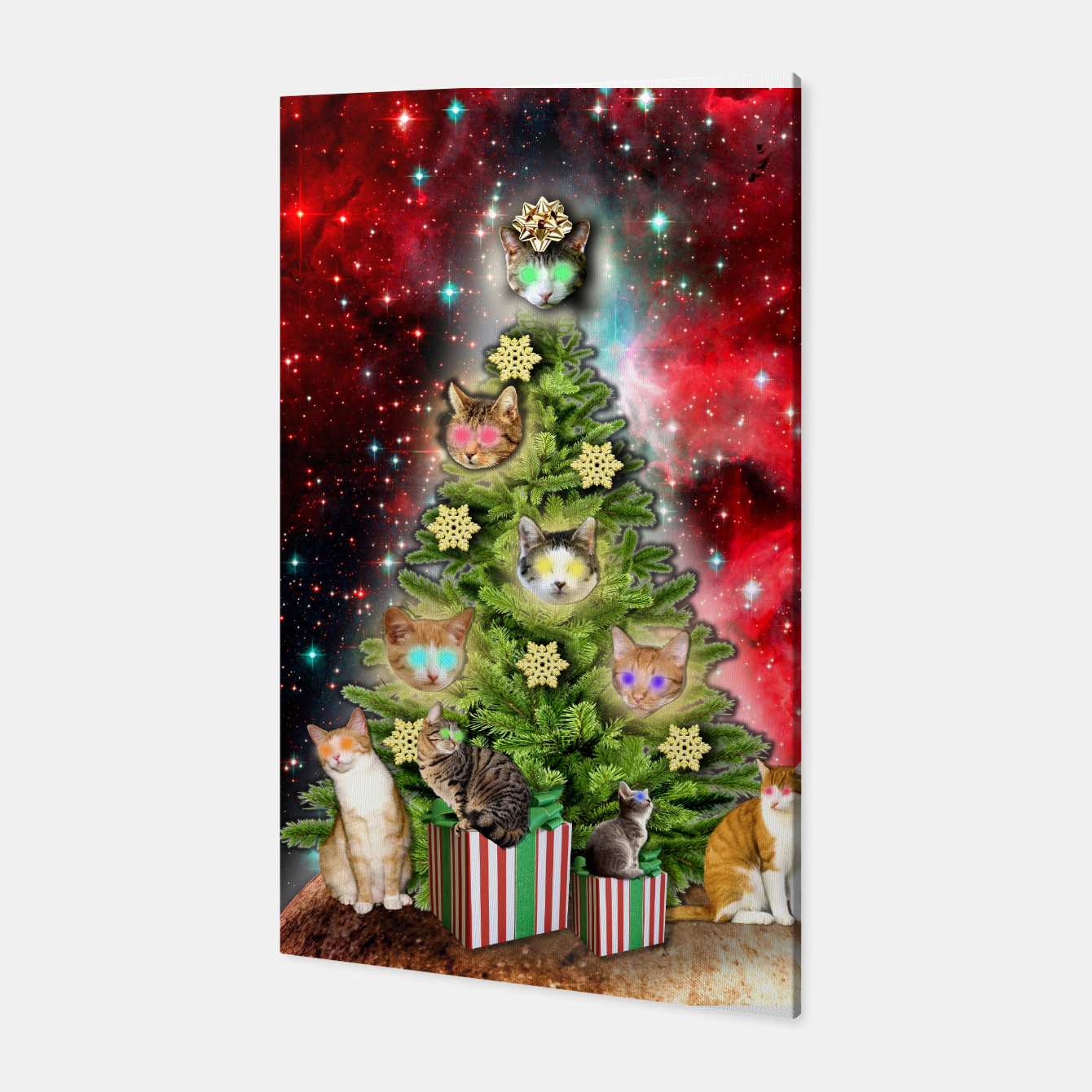 Image of MERRY CHRISTMAS CATS Canvas - Live Heroes