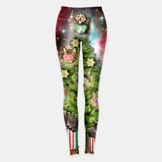 Miniaturka MERRY CHRISTMAS CATS Leggings, Live Heroes