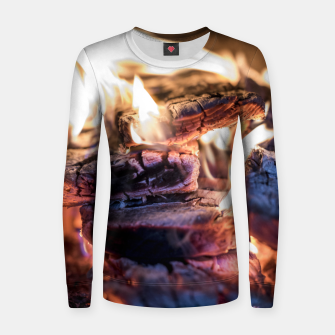 Thumbnail image of domestic fire #1 Women sweater, Live Heroes