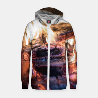 Thumbnail image of domestic fire #1 Zip up hoodie, Live Heroes