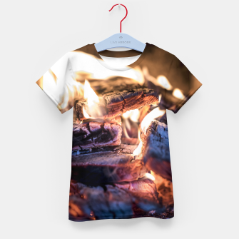 Thumbnail image of domestic fire #1 Kid's t-shirt, Live Heroes