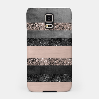 Thumbnail image of Blush Glitter Glam Stripes #2 #shiny #decor #art Handyhülle für Samsung, Live Heroes