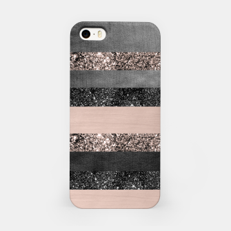 Thumbnail image of Blush Glitter Glam Stripes #2 #shiny #decor #art iPhone-Hülle, Live Heroes
