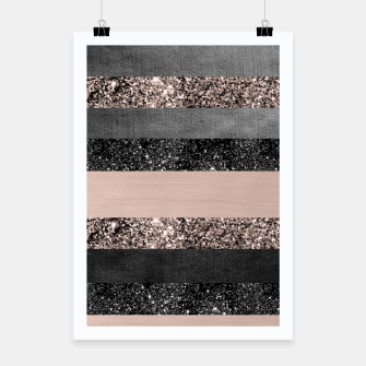 Thumbnail image of Blush Glitter Glam Stripes #2 #shiny #decor #art Plakat, Live Heroes