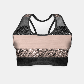 Thumbnail image of Blush Glitter Glam Stripes #2 #shiny #decor #art Crop Top, Live Heroes