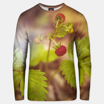 Thumbnail image of wild strawberry #1 Unisex sweater, Live Heroes