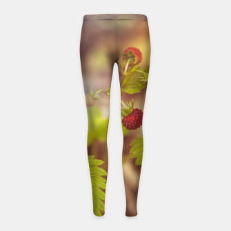 Thumbnail image of wild strawberry #1 Girl's leggings, Live Heroes