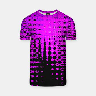 Miniatur Modern abstract pattern in purple T-shirt, Live Heroes