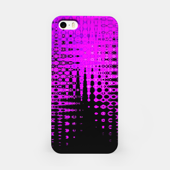Miniatur Modern abstract pattern in purple iPhone Case, Live Heroes
