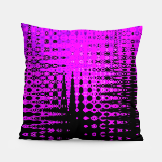 Miniatur Modern abstract pattern in purple Pillow, Live Heroes