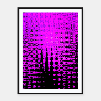 Miniatur Modern abstract pattern in purple Framed poster, Live Heroes
