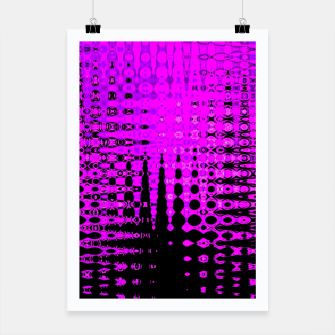 Miniatur Modern abstract pattern in purple Poster, Live Heroes