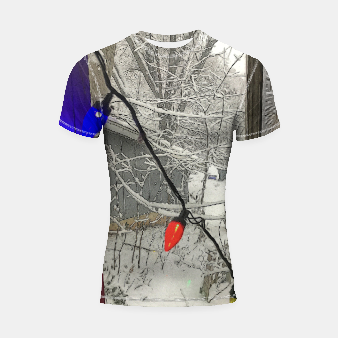 Imagen de Home For The Holidays Shortsleeve rashguard - Live Heroes