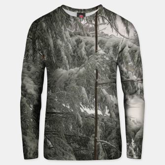 Thumbnail image of Snow Covered Pine Tree Unisex sweater, Live Heroes