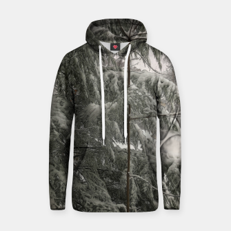 Thumbnail image of Snow Covered Pine Tree Hoodie, Live Heroes