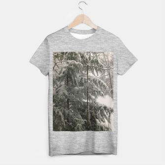 Thumbnail image of Snow Covered Pine Tree T-shirt regular, Live Heroes