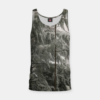 Thumbnail image of Snow Covered Pine Tree Tank Top, Live Heroes