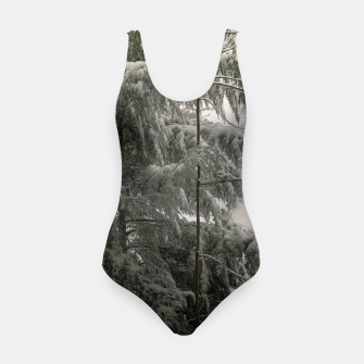 Thumbnail image of Snow Covered Pine Tree Swimsuit, Live Heroes