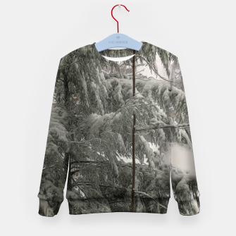 Thumbnail image of Snow Covered Pine Tree Kid's sweater, Live Heroes