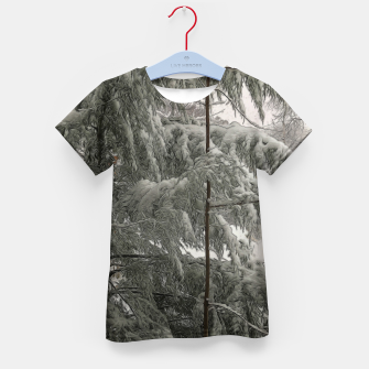 Thumbnail image of Snow Covered Pine Tree Kid's t-shirt, Live Heroes