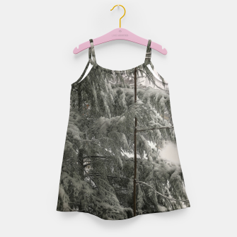 Thumbnail image of Snow Covered Pine Tree Girl's dress, Live Heroes