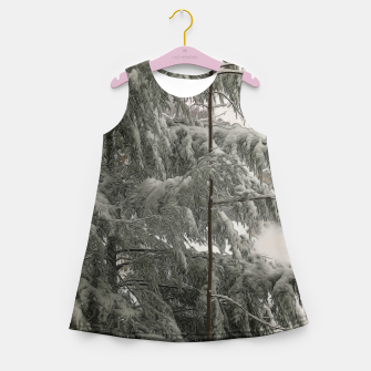 Thumbnail image of Snow Covered Pine Tree Girl's summer dress, Live Heroes