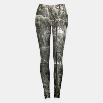 Thumbnail image of Snow Covered Pine Tree Leggings, Live Heroes