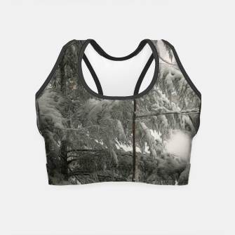 Thumbnail image of Snow Covered Pine Tree Crop Top, Live Heroes