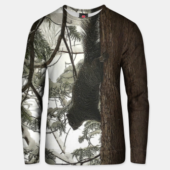 Thumbnail image of Squirrel on a Snowy Tree Unisex sweater, Live Heroes