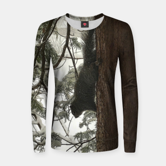 Thumbnail image of Squirrel on a Snowy Tree Women sweater, Live Heroes