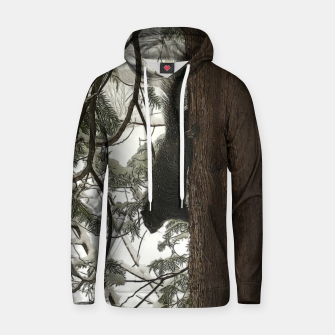 Thumbnail image of Squirrel on a Snowy Tree Hoodie, Live Heroes