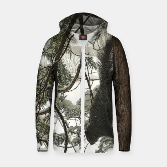 Thumbnail image of Squirrel on a Snowy Tree Zip up hoodie, Live Heroes