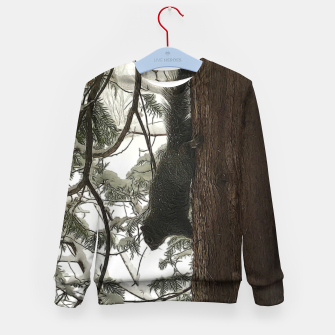 Thumbnail image of Squirrel on a Snowy Tree Kid's sweater, Live Heroes